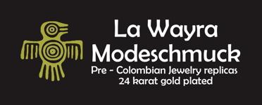Logo La Wayra gelb auf schwarz 372x150 150ppi